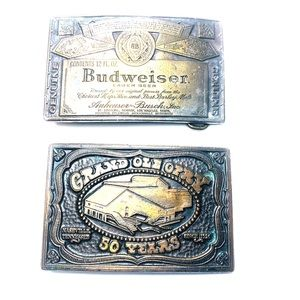 Other - Vintage belt buckles: Budweiser & Grand Ole Opry